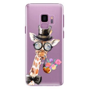 Plastové puzdro iSaprio - Sir Giraffe - Samsung Galaxy S9