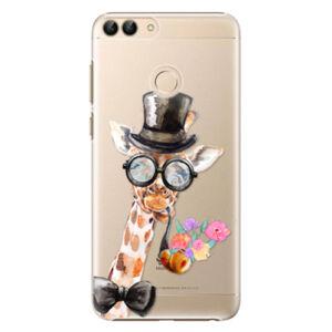 Plastové puzdro iSaprio - Sir Giraffe - Huawei P Smart