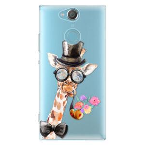 Plastové puzdro iSaprio - Sir Giraffe - Sony Xperia XA2