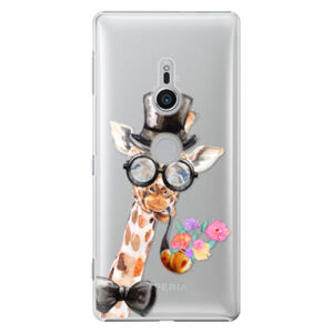 Plastové puzdro iSaprio - Sir Giraffe - Sony Xperia XZ2
