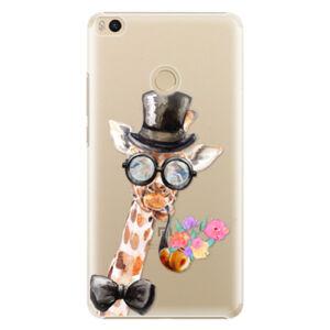Plastové puzdro iSaprio - Sir Giraffe - Xiaomi Mi Max 2