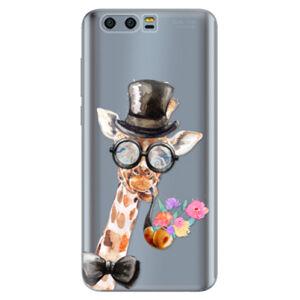 Silikónové puzdro iSaprio - Sir Giraffe - Huawei Honor 9