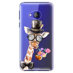 Plastové puzdro iSaprio - Sir Giraffe - HTC U Play