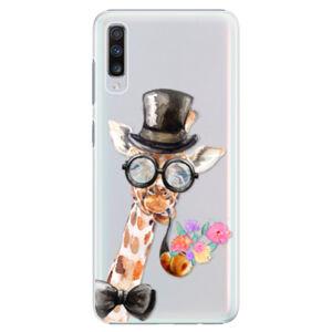 Plastové puzdro iSaprio - Sir Giraffe - Samsung Galaxy A70