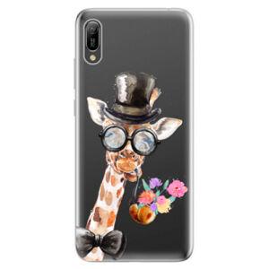 Odolné silikonové pouzdro iSaprio - Sir Giraffe - Huawei Y6 2019