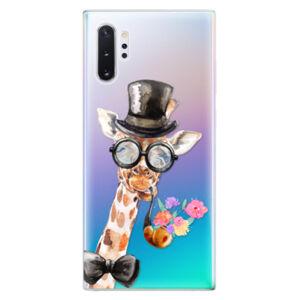 Odolné silikónové puzdro iSaprio - Sir Giraffe - Samsung Galaxy Note 10+
