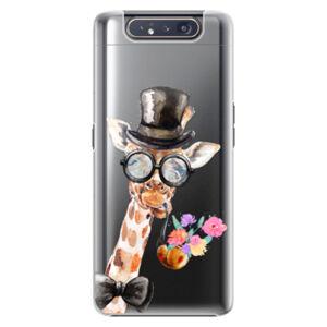 Plastové puzdro iSaprio - Sir Giraffe - Samsung Galaxy A80