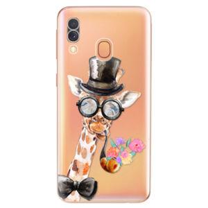 Odolné silikónové puzdro iSaprio - Sir Giraffe - Samsung Galaxy A40