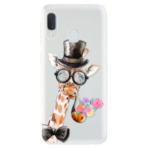 Odolné silikónové puzdro iSaprio - Sir Giraffe - Samsung Galaxy A20e