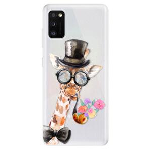 Odolné silikónové puzdro iSaprio - Sir Giraffe - Samsung Galaxy A41