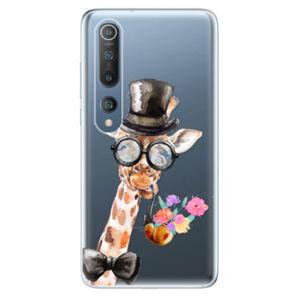 Odolné silikónové puzdro iSaprio - Sir Giraffe - Xiaomi Mi 10 / Mi 10 Pro
