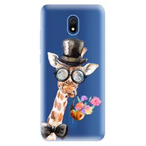 Odolné silikónové puzdro iSaprio - Sir Giraffe - Xiaomi Redmi 8A