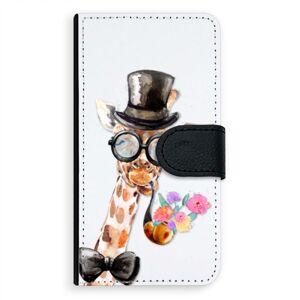 Univerzálne flipové puzdro iSaprio - Sir Giraffe - Flip XL