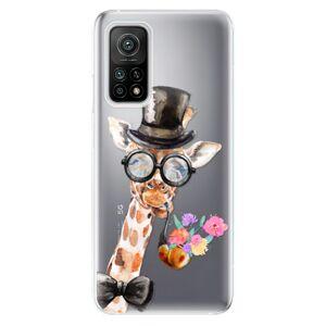 Odolné silikónové puzdro iSaprio - Sir Giraffe - Xiaomi Mi 10T / Mi 10T Pro