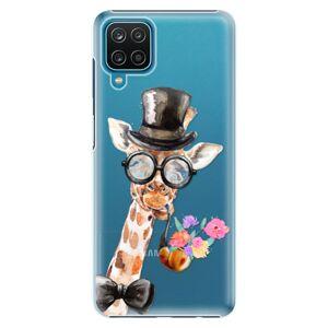 Plastové puzdro iSaprio - Sir Giraffe - Samsung Galaxy A12