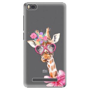 Plastové puzdro iSaprio - Lady Giraffe - Xiaomi Mi4C