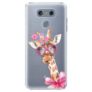 Plastové puzdro iSaprio - Lady Giraffe - LG G6 (H870)