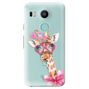 Plastové puzdro iSaprio - Lady Giraffe - LG Nexus 5X