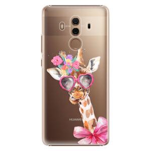 Plastové puzdro iSaprio - Lady Giraffe - Huawei Mate 10 Pro