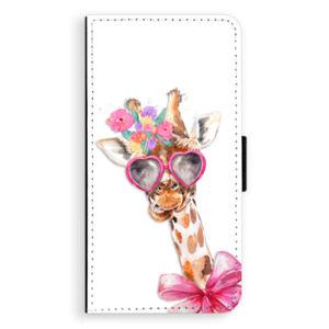Flipové puzdro iSaprio - Lady Giraffe - iPhone XS Max