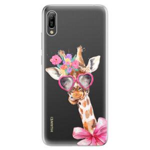 Odolné silikonové pouzdro iSaprio - Lady Giraffe - Huawei Y6 2019
