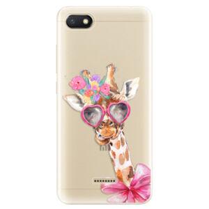Odolné silikónové puzdro iSaprio - Lady Giraffe - Xiaomi Redmi 6A