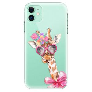 Plastové puzdro iSaprio - Lady Giraffe - iPhone 11