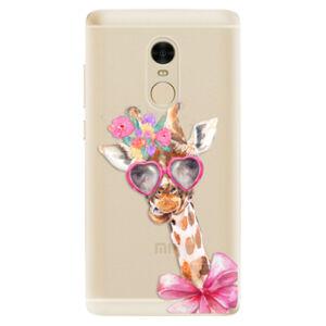 Odolné silikónové puzdro iSaprio - Lady Giraffe - Xiaomi Redmi Note 4