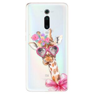 Odolné silikónové puzdro iSaprio - Lady Giraffe - Xiaomi Mi 9T Pro