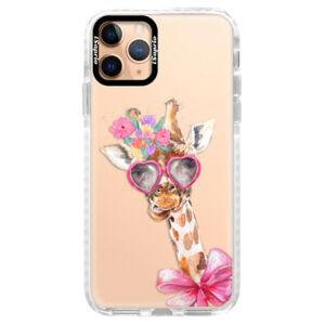 Silikónové puzdro Bumper iSaprio - Lady Giraffe - iPhone 11 Pro