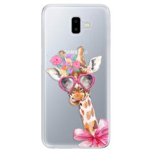 Odolné silikónové puzdro iSaprio - Lady Giraffe - Samsung Galaxy J6+
