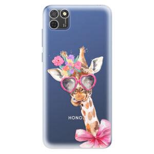 Odolné silikónové puzdro iSaprio - Lady Giraffe - Honor 9S