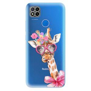 Odolné silikónové puzdro iSaprio - Lady Giraffe - Xiaomi Redmi 9C