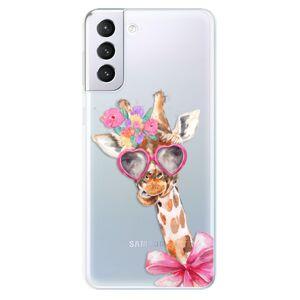 Odolné silikónové puzdro iSaprio - Lady Giraffe - Samsung Galaxy S21+