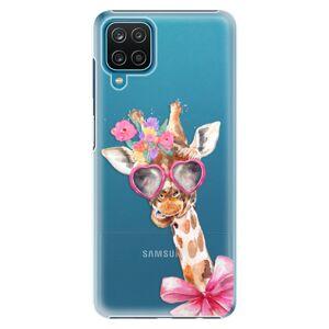 Plastové puzdro iSaprio - Lady Giraffe - Samsung Galaxy A12