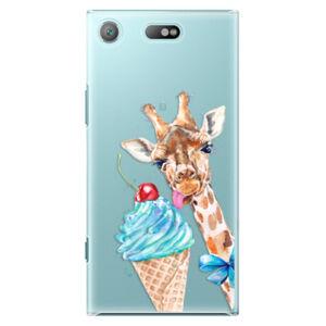 Plastové puzdro iSaprio - Love Ice-Cream - Sony Xperia XZ1 Compact