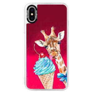 Neónové púzdro Pink iSaprio - Love Ice-Cream - iPhone X