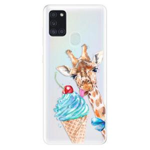 Odolné silikónové puzdro iSaprio - Love Ice-Cream - Samsung Galaxy A21s