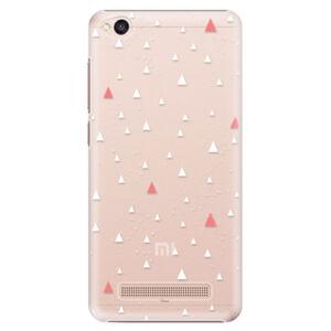 Plastové puzdro iSaprio - Abstract Triangles 02 - white - Xiaomi Redmi 4A