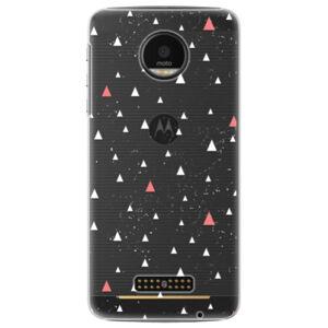 Plastové puzdro iSaprio - Abstract Triangles 02 - white - Lenovo Moto Z