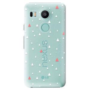 Plastové puzdro iSaprio - Abstract Triangles 02 - white - LG Nexus 5X