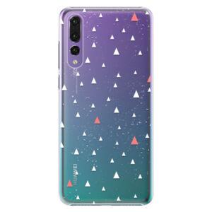 Plastové puzdro iSaprio - Abstract Triangles 02 - white - Huawei P20 Pro