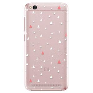 Plastové puzdro iSaprio - Abstract Triangles 02 - white - Xiaomi Redmi 5A