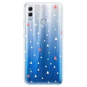 Odolné silikonové pouzdro iSaprio - Abstract Triangles 02 - white - Huawei Honor 10 Lite
