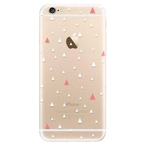 Odolné silikónové puzdro iSaprio - Abstract Triangles 02 - white - iPhone 6/6S