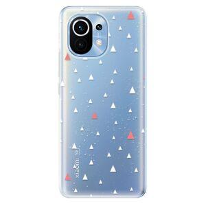 Odolné silikónové puzdro iSaprio - Abstract Triangles 02 - white - Xiaomi Mi 11