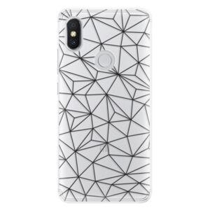 Silikónové puzdro iSaprio - Abstract Triangles 03 - black - Xiaomi Redmi S2