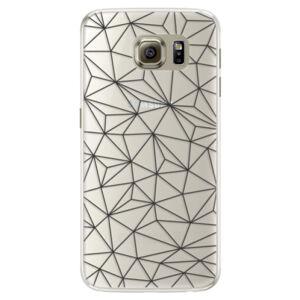 Silikónové puzdro iSaprio - Abstract Triangles 03 - black - Samsung Galaxy S6 Edge