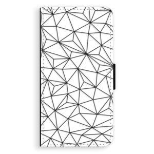 Flipové puzdro iSaprio - Abstract Triangles 03 - black - iPhone XS Max