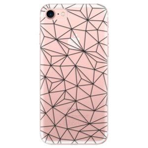 Odolné silikónové puzdro iSaprio - Abstract Triangles 03 - black - iPhone 7